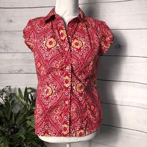 Tommy Hilfiger Paisley/Floral Stretch SS Top - PM